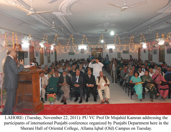 Inferiority complex declining Punjabi language: PU VC