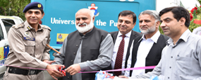 PU, NHMP launch road safety on wheel drive