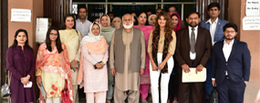 Chevening Pakistan team calls on PU VC